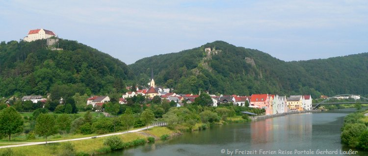 Ausflugsziele im Altmühltal Riedenburg Fluss Ansicht