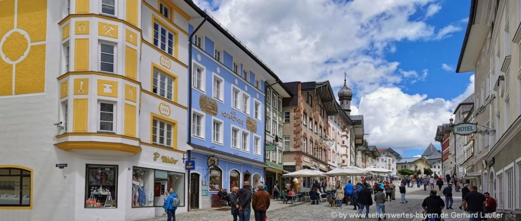 Baudenkmäler Marktstraße Bad Tölz - Sehenswürdigkeiten und Ausflugsziele