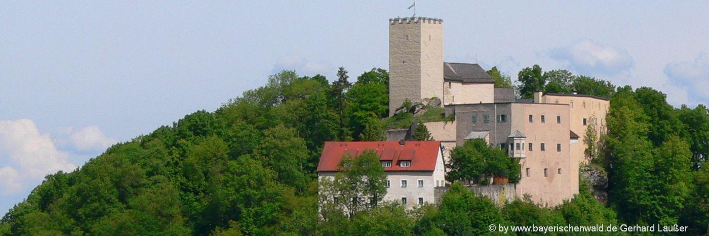 Bayerischer Wald Sehenswürdigkeiten die Burg Falkenstein