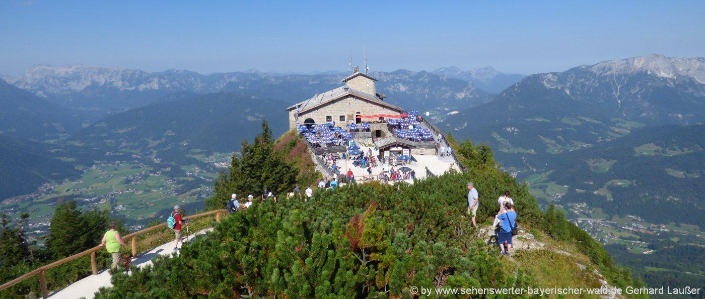 Schöne Plätze, interessante Stellen und imposante Ausflugsziele - Berchtesgaden Kehlsteinhaus