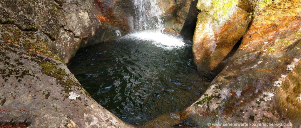 Hochfall Wasserfall Sehenswürdigkeiten & Ausflugsziele in Bodenmais