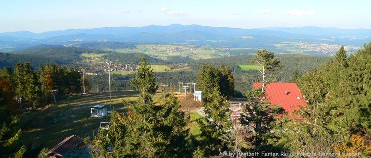 Mountain Bikepark Geisskopf Aussicht von der Bergstation