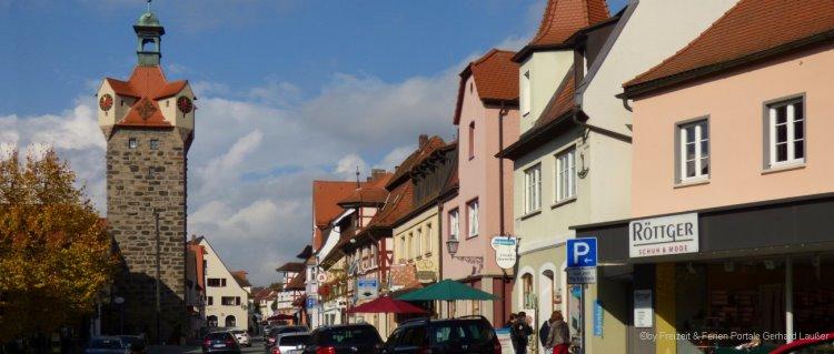 Sehenswürdigkeiten in Herzogenaurach in MIttelfranken - Altstadt mit Stadtturm