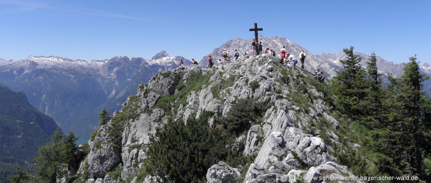 jenner-berchtesgaden-highlights-berggipfel-gipfelkreuz-alpen