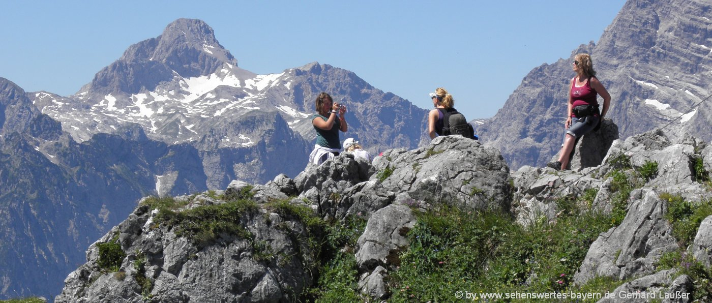außergewöhnliche Orte in Bayern Jenner mit Watzmann besondere Attraktionen