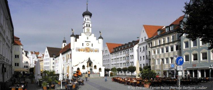 Sehenswürdigkeiten in Kempten Altstadt Strassencafe