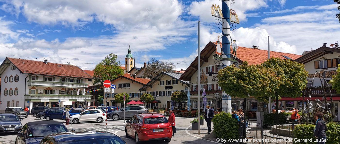 Ausflugsziele Miesbach Sehenswürdigkeiten Freizeit Marktplatz