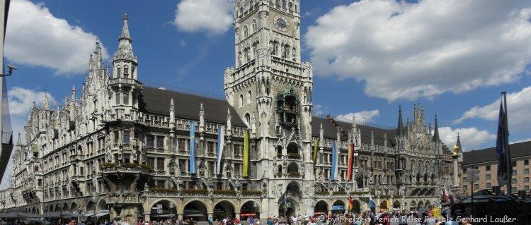 Sehenswürdigkeiten in Oberbayern Stadt München Rathausplatz