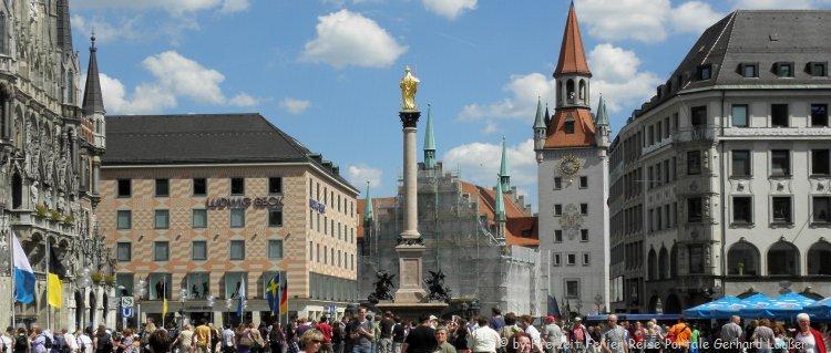 Sehenswürdigkeiten in München Marienplatz