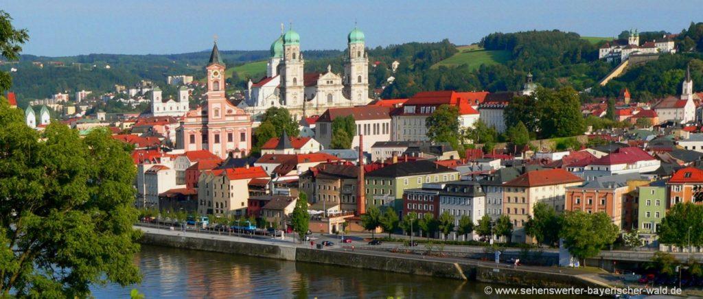 Ausflugsziele der Dreiflüssestadt Passau Sehenswürdigkeiten in Niederbayern