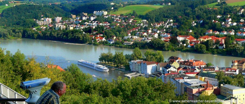 Sehenswürdigkeiten in Passau Reiseziele in Niederbayern Ausflugsziele