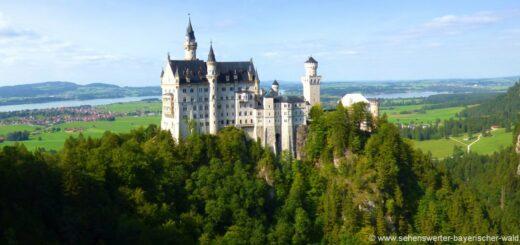 Beeindruckende Sehenswürdigkeiten in Bayern - Neuschwanstein im Allgäu