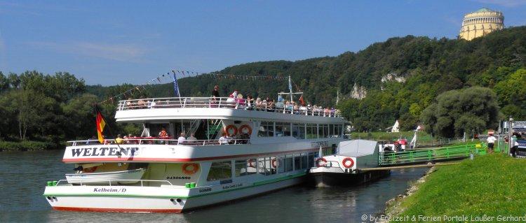 Sehenswürdigkeiten Kehlheim Donau Schifffahrt Befreiungshalle