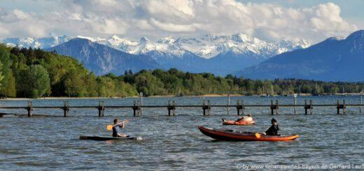 Starnberger See Ausflugsziele in Bayern Highlights Alpen