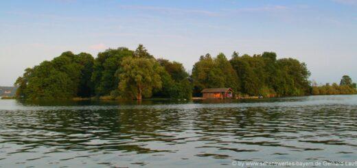 Ausflüge in Feldafing Sehenswürdigkeiten Roseninsel im Starnberger See