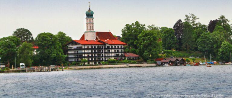 Sehenswürdigkeiten Seeshaupt Ausflugsziele Starnberger Seepromenade