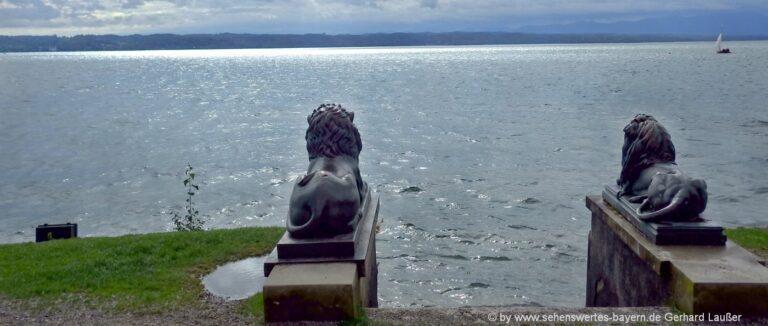 Sehenswürdigkeiten Tutzing am Starnberger See Löwen Strand Ausflugsziele