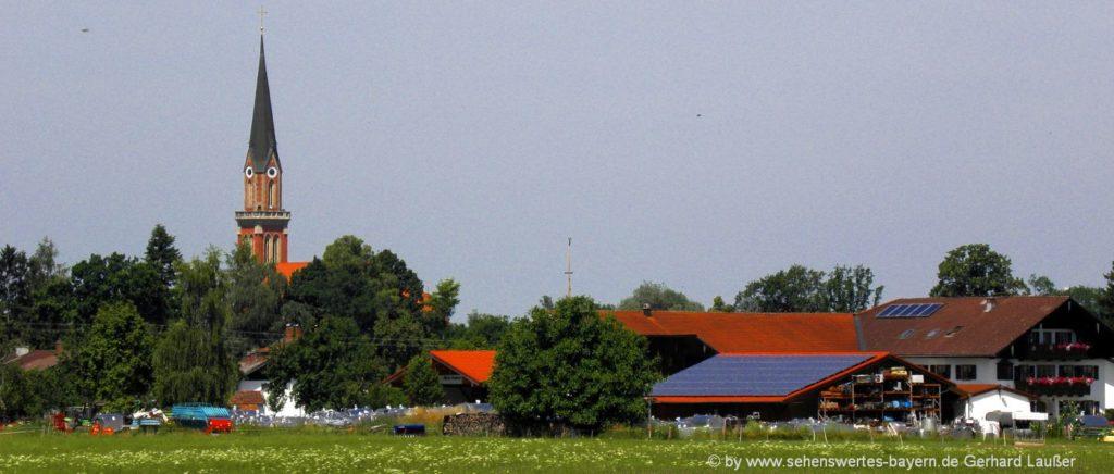 Sehenswürdigkeiten in Übersee am Chiemsee Ausflugsziele & Freizeit Tipps