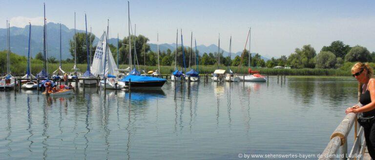 übersee-sehenswürdigkeiten-chiemsee-ausflug-badesee-segelboote