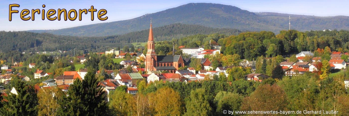 Sehenswürdigkeiten und Ausflugsziele in Zwiesel im Bayerischen Wald
