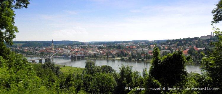 Sehenswürdigkeiten in Vilshofen - Ansicht der Stadt an der Donau in Niederbayern