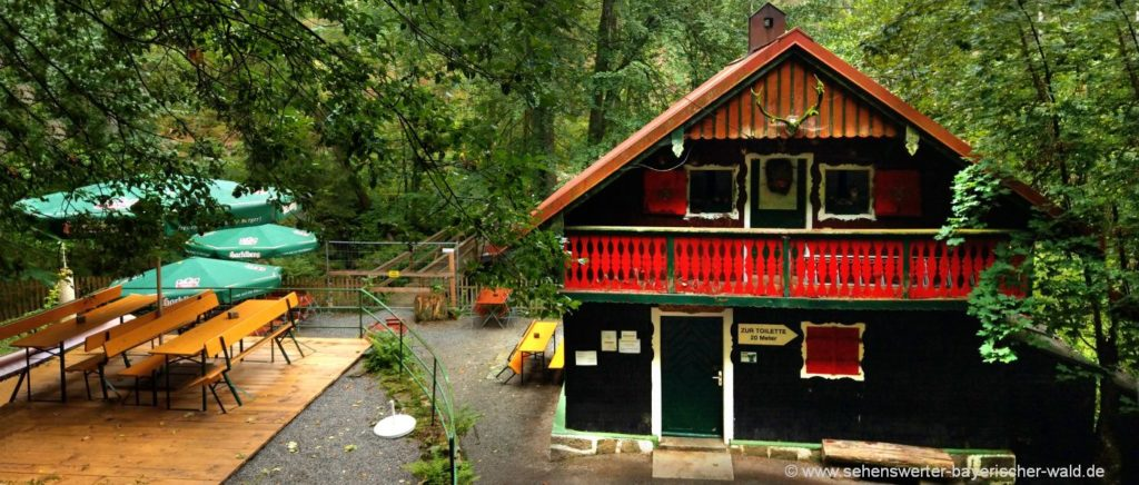 Wandern in der Saußbachklamm Naturschutzgebiet bei Waldkirchen