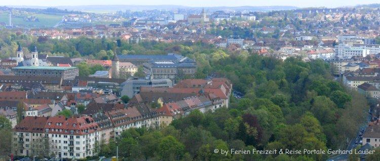 Sehenswürdigkeiten in Würzburg Blick über die Stadt